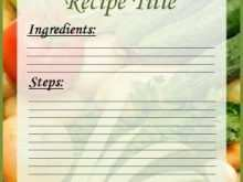 52 The Best Word Recipe Card Template Free for Ms Word for Word Recipe Card Template Free
