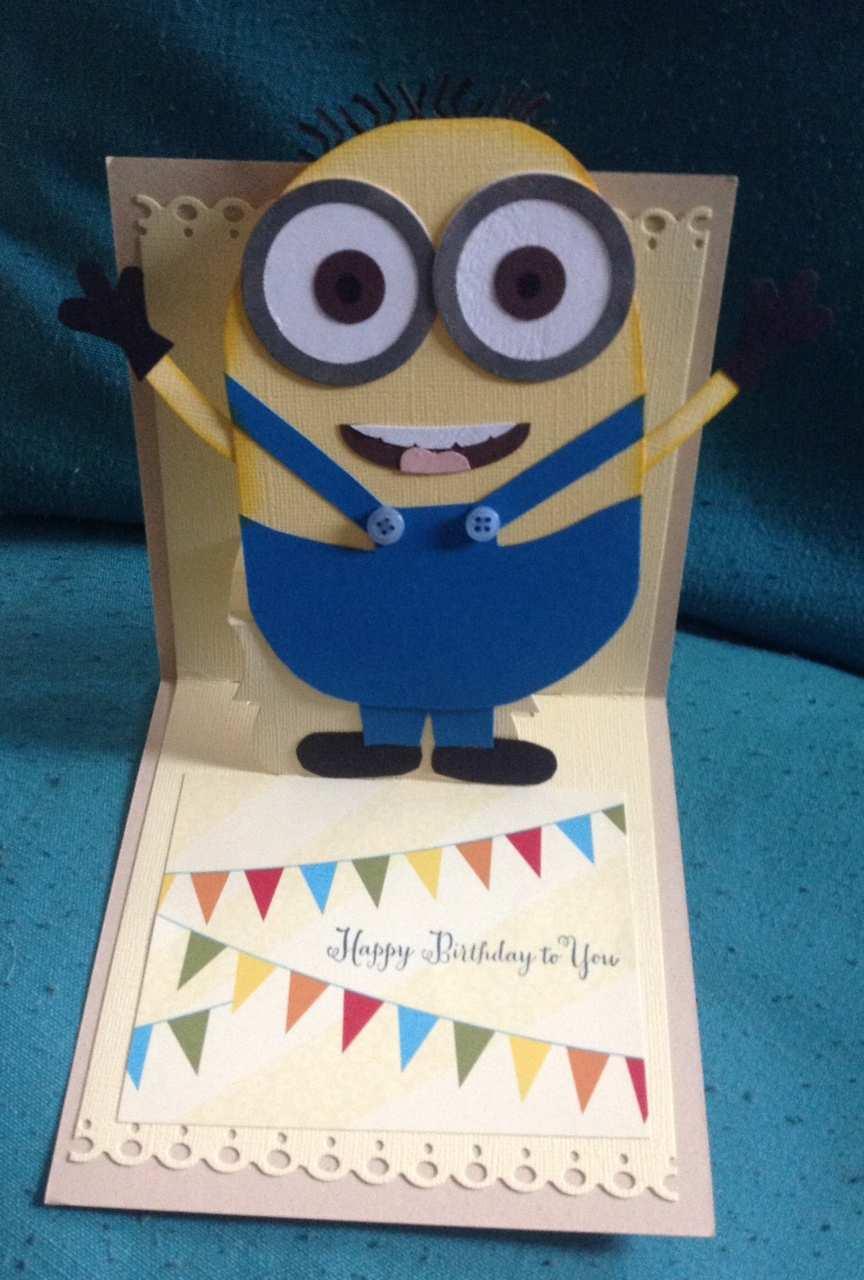 52 Visiting Minion Pop Up Card Template Maker with Minion Pop Up Card Template