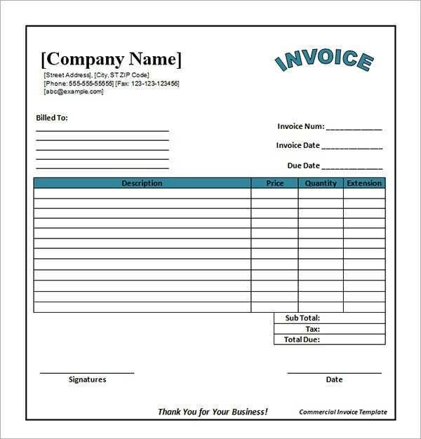 53 Creating Blank Invoice Template Xls Templates for Blank Invoice Template Xls