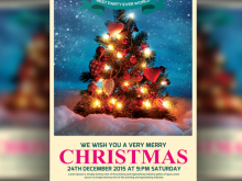 53 Customize Christmas Party Flyer Template With Stunning Design with Christmas Party Flyer Template