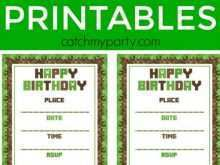 53 Customize Our Free Minecraft Happy Birthday Card Template Printable For Free by Minecraft Happy Birthday Card Template Printable