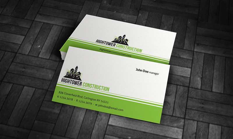 53 Format Construction Business Card