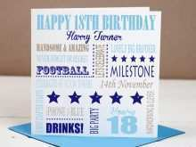 18Th Birthday Card Template