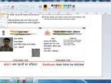 53 Online Aadhar Card Template Download With Stunning Design by Aadhar Card Template Download