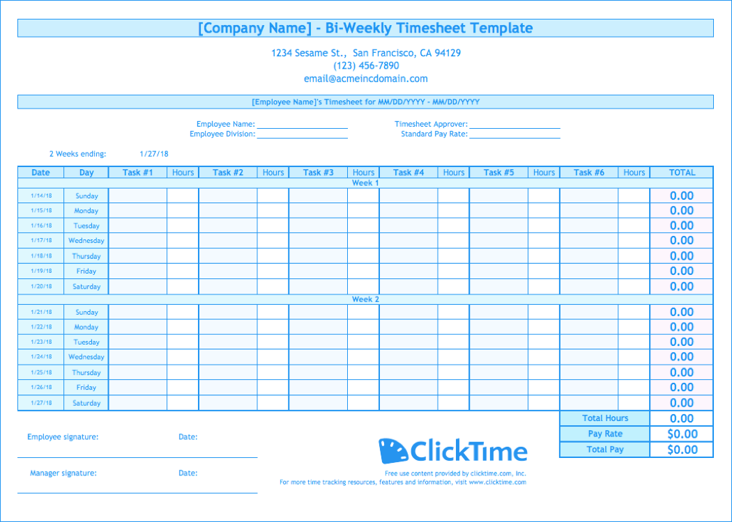 53 Online Biweekly Time Card Template Excel Photo for Biweekly Time Card Template Excel