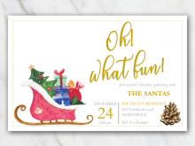 53 Printable Christmas Sleigh Card Template Formating by Christmas Sleigh Card Template