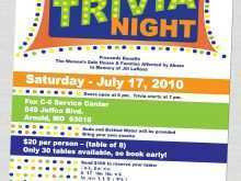 53 Printable Trivia Night Flyer Template With Stunning Design with Trivia Night Flyer Template