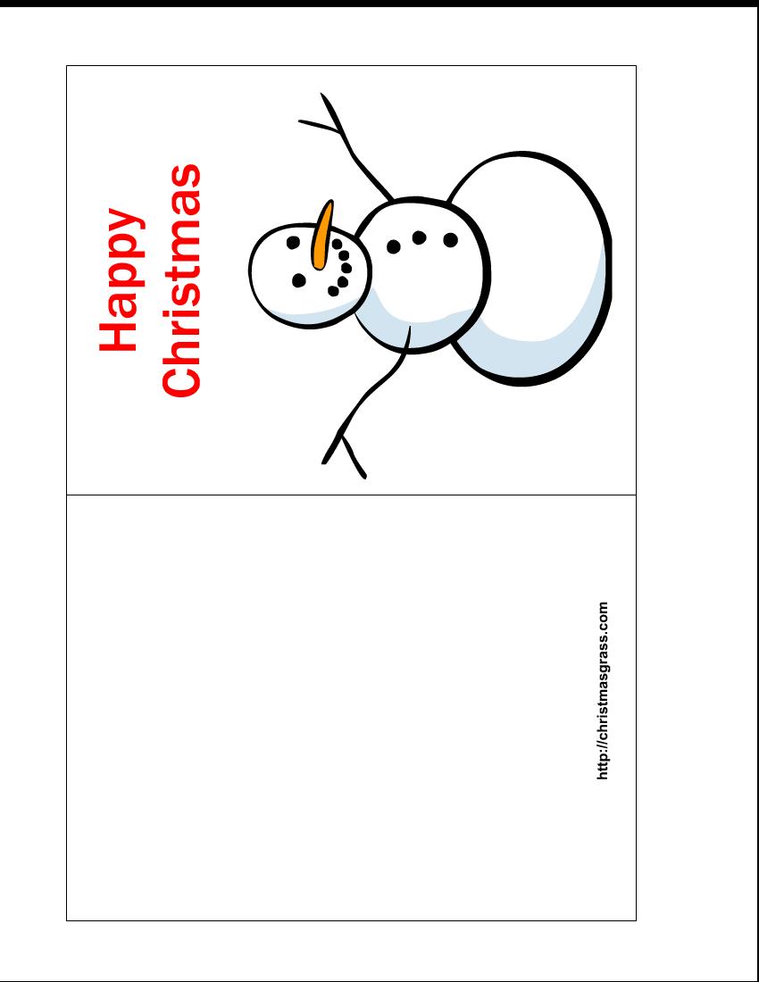 53 Standard Christmas Card Templates To Print for Ms Word by Christmas Card Templates To Print