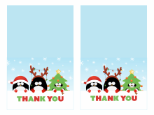 Thank You Card Template For Christmas