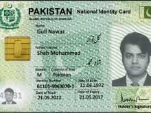 Id Card Template Pakistan