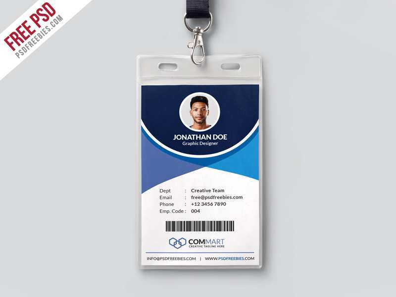 54 Blank College Id Card Template Psd Free Download Templates with College Id Card Template Psd Free Download