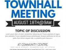 Town Hall Flyer Template