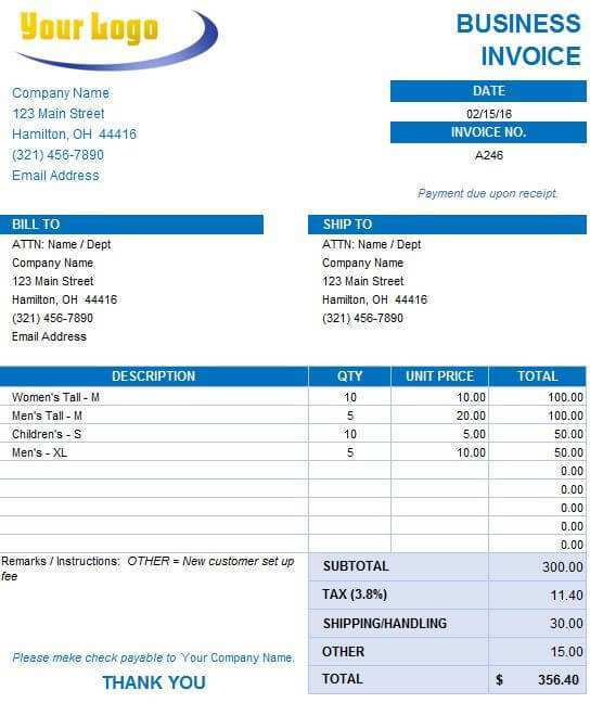 54 Company Invoice Format Excel Formating with Company Invoice Format Excel