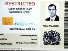54 Create James Bond Id Card Template With Stunning Design for James Bond Id Card Template