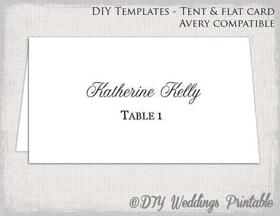 54 Create Name Place Card Tent Template PSD File by Name Place Card Tent Template