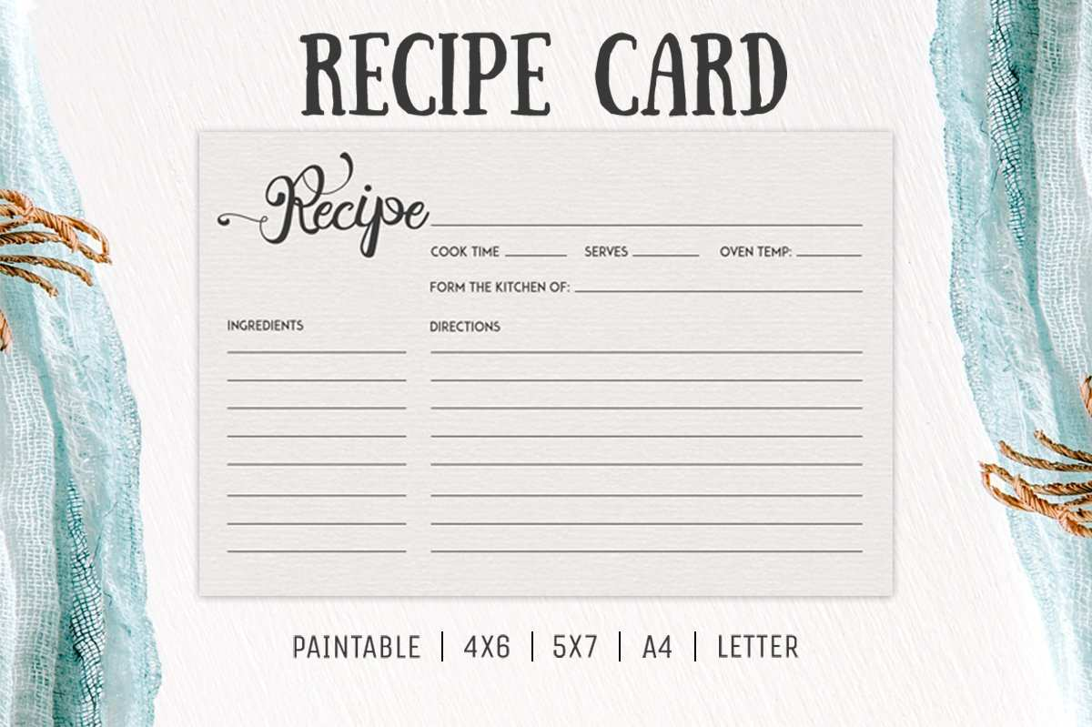 54 Creative 5 X 7 Recipe Card Template in Word with 5 X 7 Recipe Card Template