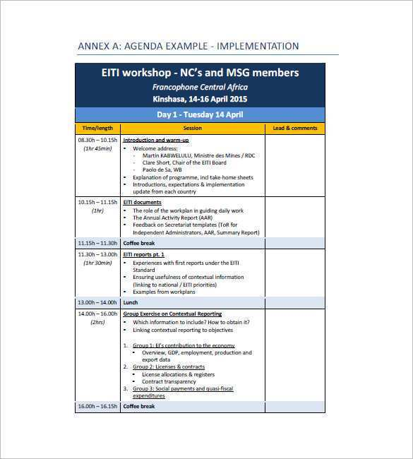 54 Customize Our Free 2 Day Meeting Agenda Template Download by 2 Day Meeting Agenda Template