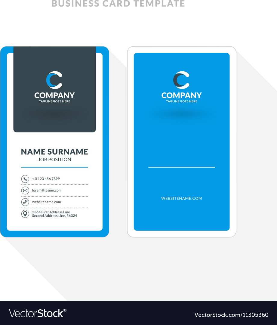 2 Sided Business Card Template Indesign