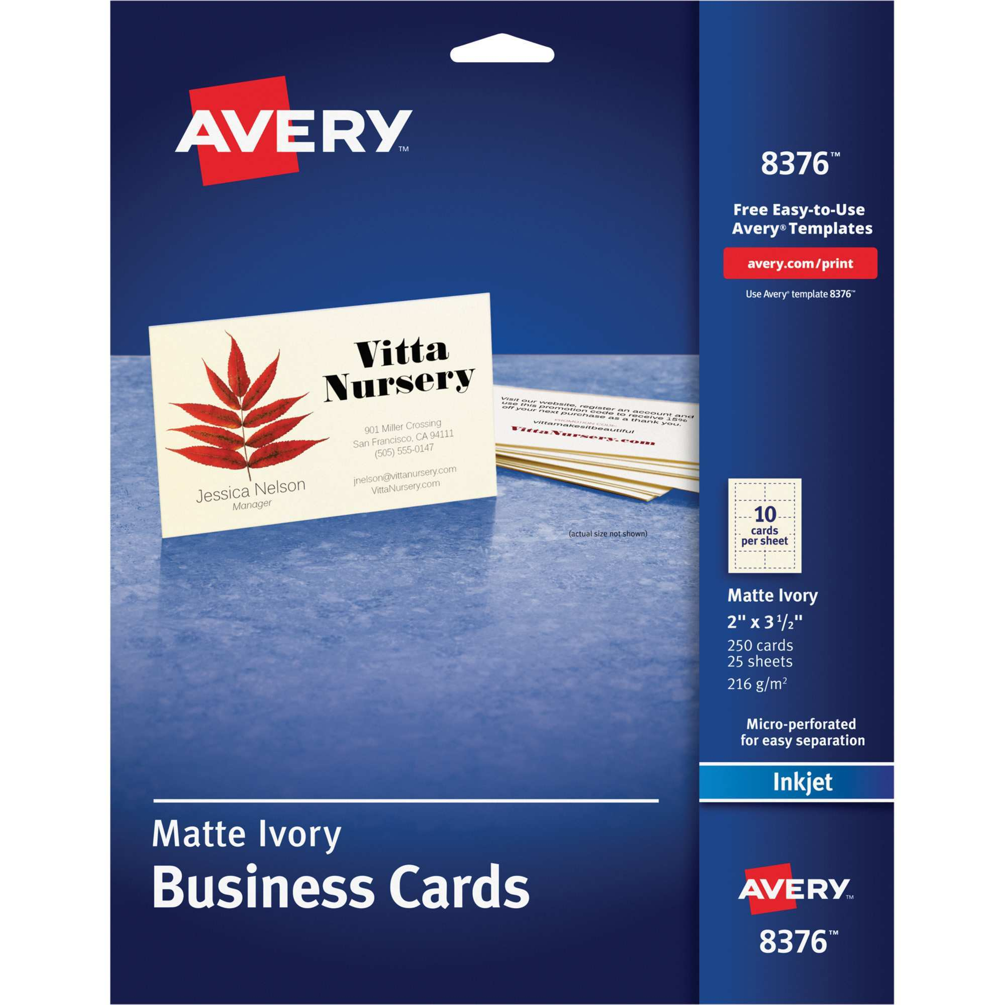 54 Customize Our Free Avery Business Card Template For Pages Now by Avery Business Card Template For Pages