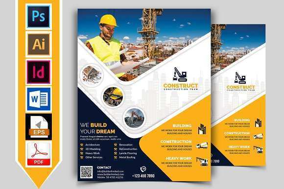 54 Customize Our Free Construction Flyer Template PSD File with Construction Flyer Template