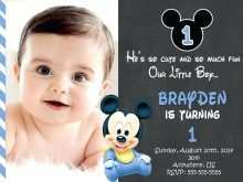 Invitation Card Template For 1St Birthday