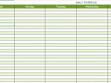 A Daily Schedule Template