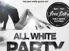 54 Online All White Party Flyer Template Free Maker by All White Party Flyer Template Free