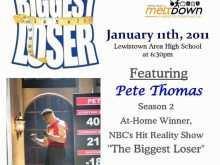 54 Online Biggest Loser Flyer Template For Free with Biggest Loser Flyer Template