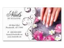 54 Online Business Card Templates For Nail Salon PSD File with Business Card Templates For Nail Salon