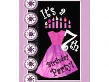54 Printable 7Th Birthday Card Template For Free for 7Th Birthday Card Template