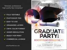 54 Printable Graduation Party Flyer Template in Photoshop with Graduation Party Flyer Template