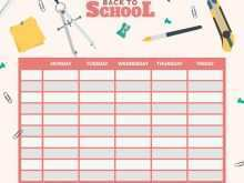 54 Report Back To School Schedule Template Layouts by Back To School Schedule Template