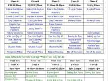 54 Standard Class Schedule Template Excel in Photoshop with Class Schedule Template Excel
