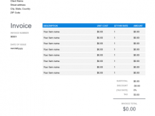 54 The Best Blank Invoice Template Google Sheets in Photoshop with Blank Invoice Template Google Sheets