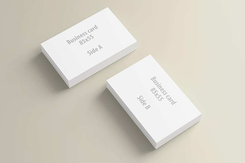 54 Visiting Business Card Design Presentation Template PSD File by Business Card Design Presentation Template