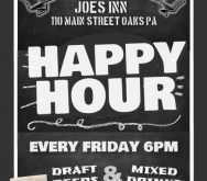 54 Visiting Happy Hour Flyer Template Free With Stunning Design for Happy Hour Flyer Template Free