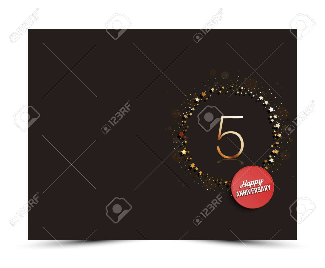 55 Adding 5 Year Anniversary Card Template Maker by 5 Year Anniversary Card Template