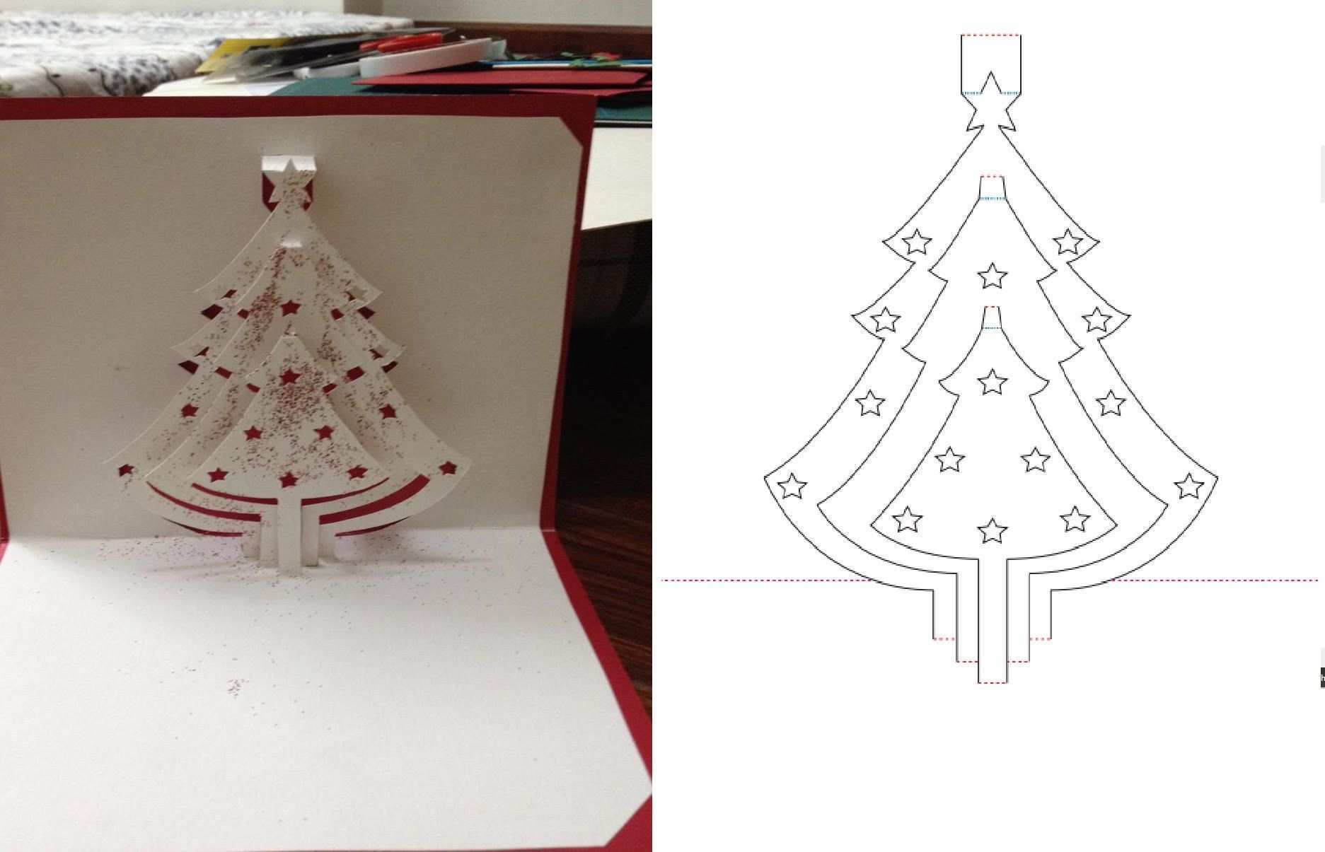 55 Best Pop Up Card Tutorial Tree Now With Pop Up Card Tutorial Tree Cards Design Templates