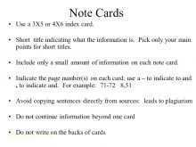 4X6 Index Card Template For Mac
