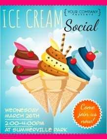 55 Create Ice Cream Social Flyer Template Free for Ms Word by Ice Cream Social Flyer Template Free