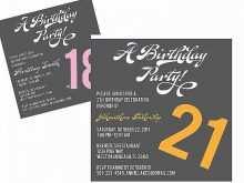 55 Creating 21St Birthday Card Invitation Templates in Word for 21St Birthday Card Invitation Templates
