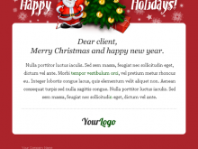 Christmas Card Newsletter Template