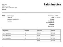 Artist Performance Invoice Template