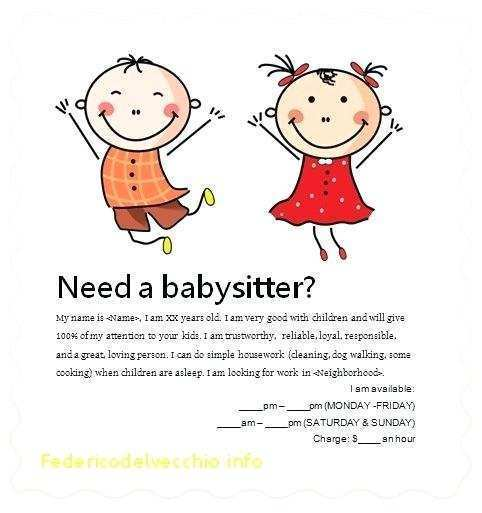 55 Customize Babysitter Flyers Template Photo by Babysitter Flyers Template
