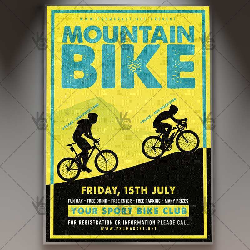55 Customize Our Free Bicycle Flyer Template in Photoshop for Bicycle Flyer Template
