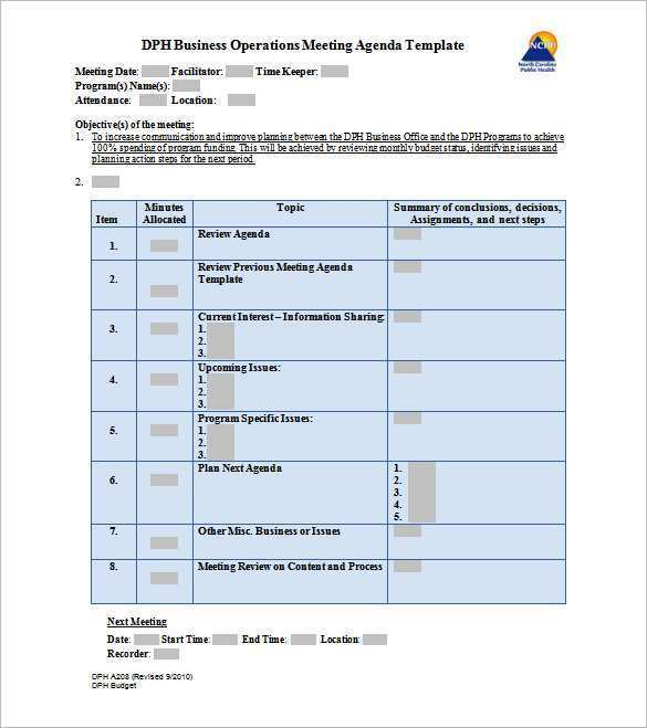 Ms Word Agenda Template from legaldbol.com