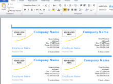 55 Free Name Card Template In Word in Word by Name Card Template In Word