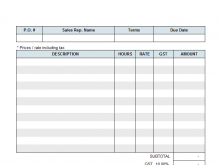 55 How To Create Free Hourly Invoice Template Word Now with Free Hourly Invoice Template Word