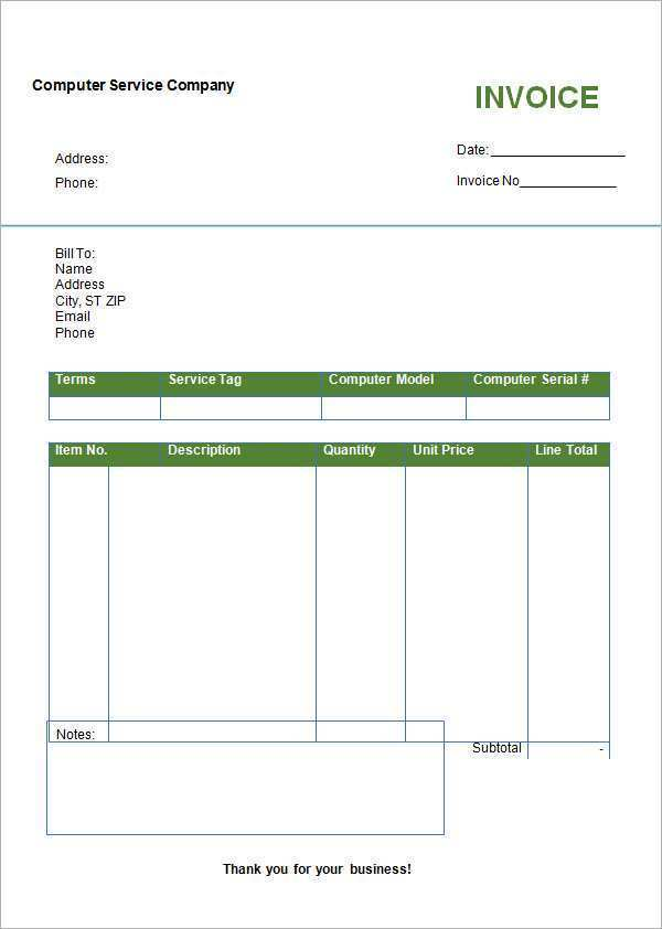 55 Report Blank Invoice Template Online for Ms Word by Blank Invoice Template Online