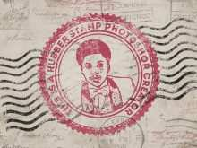 Postcard Template Rubber Stamp